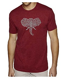 LA Pop Art Mens Premium Blend Word Art T-Shirt - Elephant Tusks