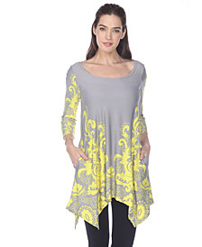 White Mark Women's Yanette Tunic