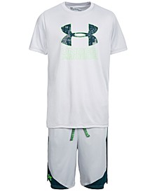 Big Boys Charged Cotton® Filled Logo T-Shirt & Stunt Shorts Separates