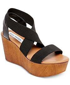 Barbara Platform Wooden Wedges