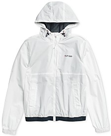 Tommy Hilfiger Adaptive Men's Park Rain Jacket with Magnetic Zipper