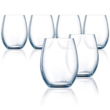 Grand Vin Primary Stemless Wine Glass - Set of 6