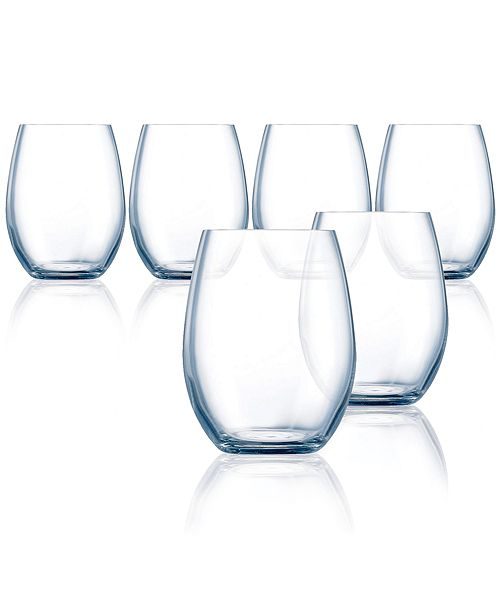 Chef & Sommelier Grand Vin Primary Stemless Wine Glass - Set of 6