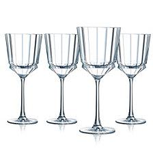 Cristal D' Arques Macassar Wine Glass - Set of 4