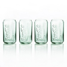 Luminarc Coca-Cola Glass Can Georgia Green- Set of 4
