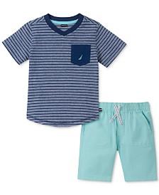 Nautica Baby Boys 2-Pc. Cotton T-Shirt & Shorts Set