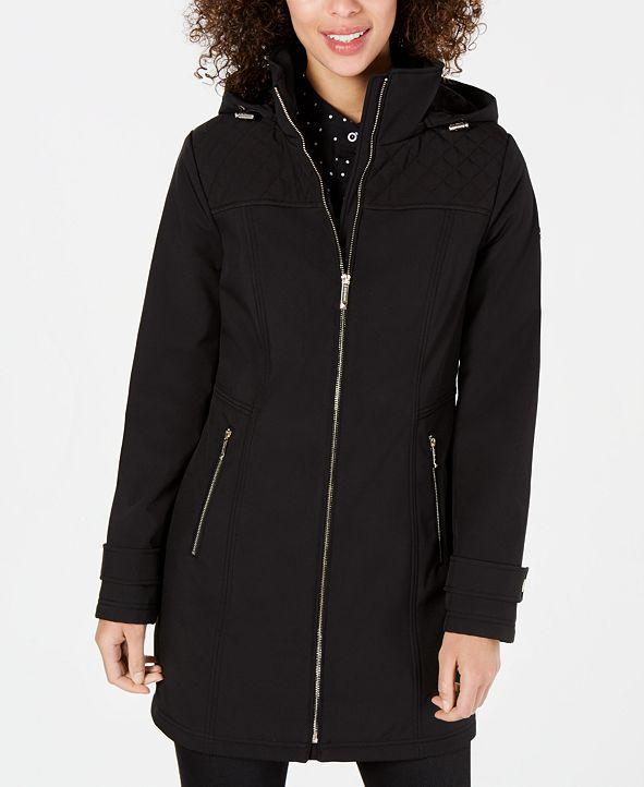 Michael Kors Water Resistant Hooded Raincoat, Created for Macy's