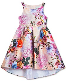 Little Girls Floral-Print Hi-Low Dress