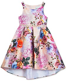 Rare Editions Little Girls Floral-Print Hi-Low Dress