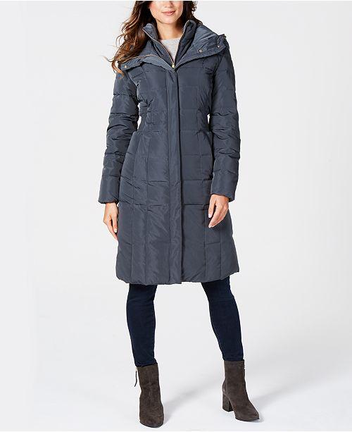 f873f9326 Box-Quilt Down Puffer Coat