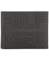 5eb42cf257 Tommy Hilfiger Men's Braylon Logo Slimfold RFID Leather Wallet