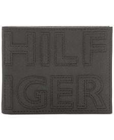 Tommy Hilfiger Men's Braylon Logo Slimfold RFID Leather Wallet