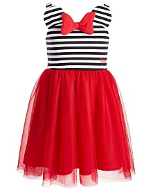 Disney Little Girls Minnie Me Striped Dress, Created for Macy's