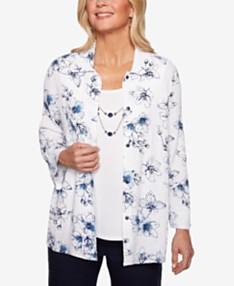 7e0f8df9028 Alfred Dunner Womens Tops - Macy's