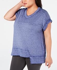 Calvin Klein Performance Plus Size Asymmetrical T-Shirt