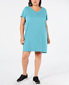 Calvin Klein Performance Plus Size Cotton T-Shirt Dress
