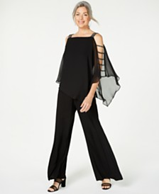 MSK Embellished Chiffon-Overlay Jumpsuit, Regular & Petite Sizes