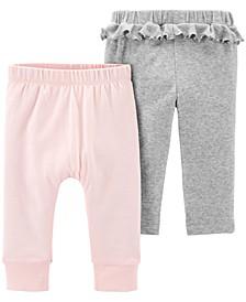 Baby Girls 2-Pk. Cotton Pants