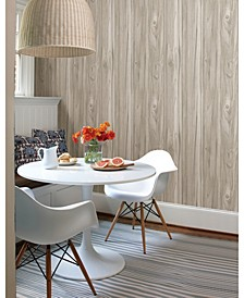 "Paneling Wide Plank Wallpaper - 396"" x 20.5"" x 0.025"""