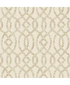 "Ethereal Trellis Wallpaper - 396"" x 20.5"" x 0.025"""