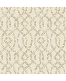 "Brewster Home Fashions Ethereal Trellis Wallpaper - 396"" x 20.5"" x 0.025"""