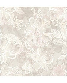 "Allure Floral Wallpaper - 396"" x 20.5"" x 0.025"""
