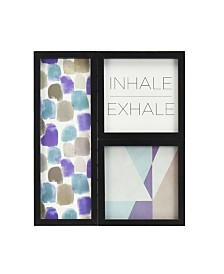 Brewster Home Fashions Inhale Exhale Gallery Wall Art