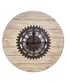 Brewster Home Fashions Gearz Industrial Clock
