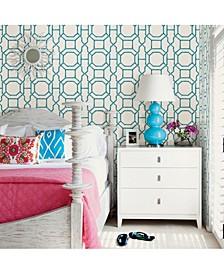 """Summer Trellis Wallpaper - 396"""" x 20.5"""" x 0.025"""""""