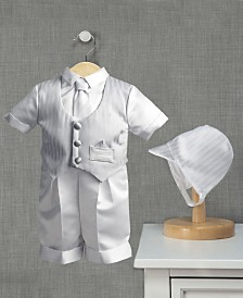 Lauren Madison Baby Boys 3-Piece Satin Christening Set