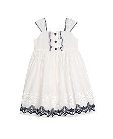London Little Girls Eyelet Dress
