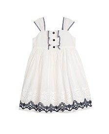 Laura Ashley Toddler and Little Girl's Eyelet Dress