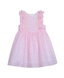 Laura Ashley Toddler and Little Girl's Sleeveless Cotton Print Dress