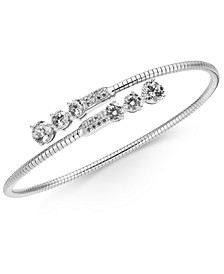 Cubic Zirconia Bypass Bracelet, Created for Macy's