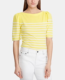 Lauren Ralph Lauren Striped Boat Neck Top