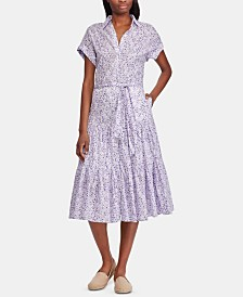 Lauren Ralph Lauren Tiered-Hem Cotton Dress