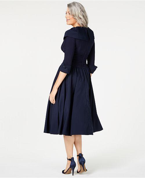d30b9f74dd5c7 Jessica Howard Portrait-Collar A-Line Dress & Reviews - Dresses ...