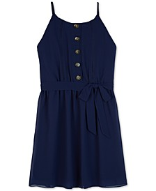 Big Girls Button-Front Shift Dress