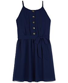 BCX Big Girls Button-Front Shift Dress