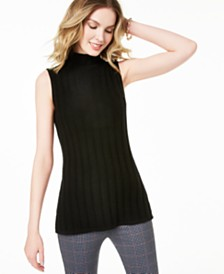 Charter Club Sleeveless Mock-Neck Cashmere Sweater, Created for Macy's