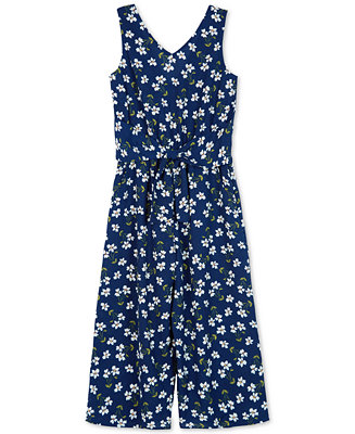 Big Girls Floral Print Jumpsuit by General