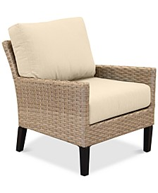 Amari Parchment Outdoor Club Chair With Sunbrella® Cushions
