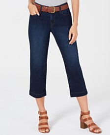 Style & Co Belted Denim Capri Pants, Created for Macy's