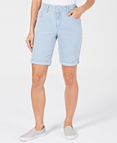 56cf50289c Style & Co Petite Railroad Cuffed Jean Shorts, Created for Macy's