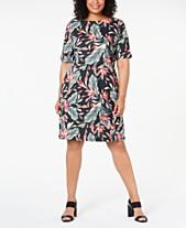 53a586f64b7f Karen Scott Plus Size Floral-Print Dress, Created for Macy's