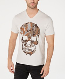 I.N.C. Men's Rhinestone Camo Skull T-Shirt, Created for Macy's