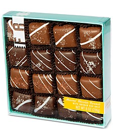 32-Pc. Assorted Milk and Dark Chocolate Sea-Salt Caramels
