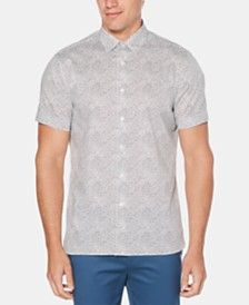 Perry Ellis Men's Regular-Fit Stretch Circle Dot-Print Shirt