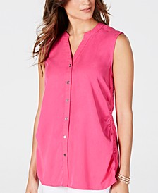 Petite Cinched-Side Sleeveless Top, Created for Macy's