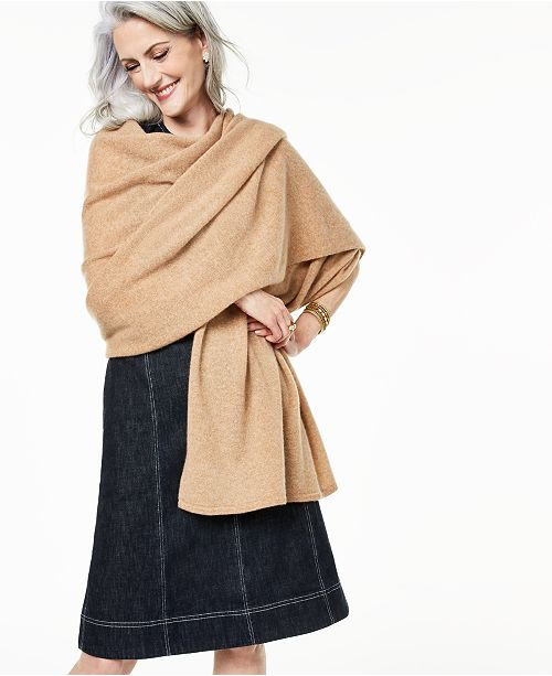 da4a58bd5 Charter Club Oversized Cashmere Scarf, Created for Macy's & Reviews ...
